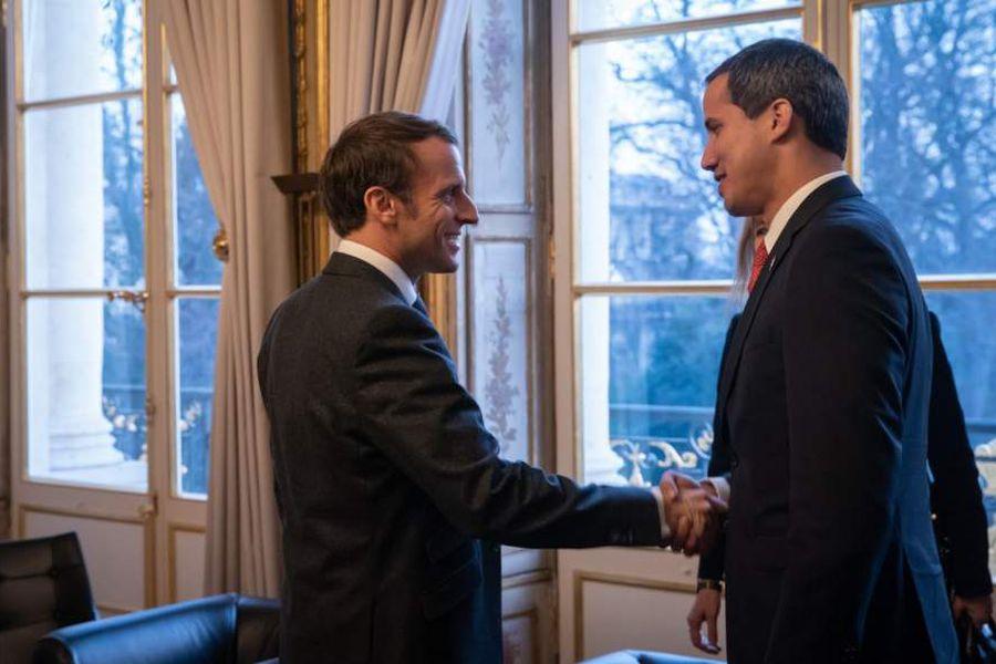 Guaidó y Macron