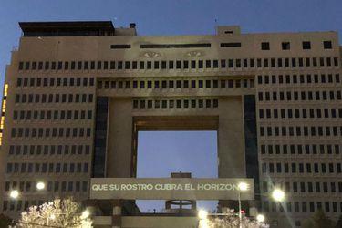 Proyectan imagen de Camilo Catrillanca en el Congreso