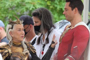 Ahora revelaron fotos de Helen Mirren como la villana de Shazam: Fury of the Gods