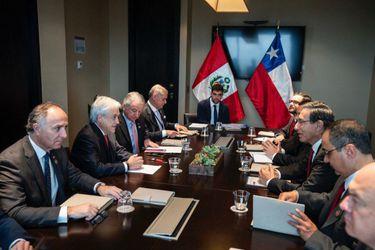 Sebastián Piñera y Martín Vizcarra