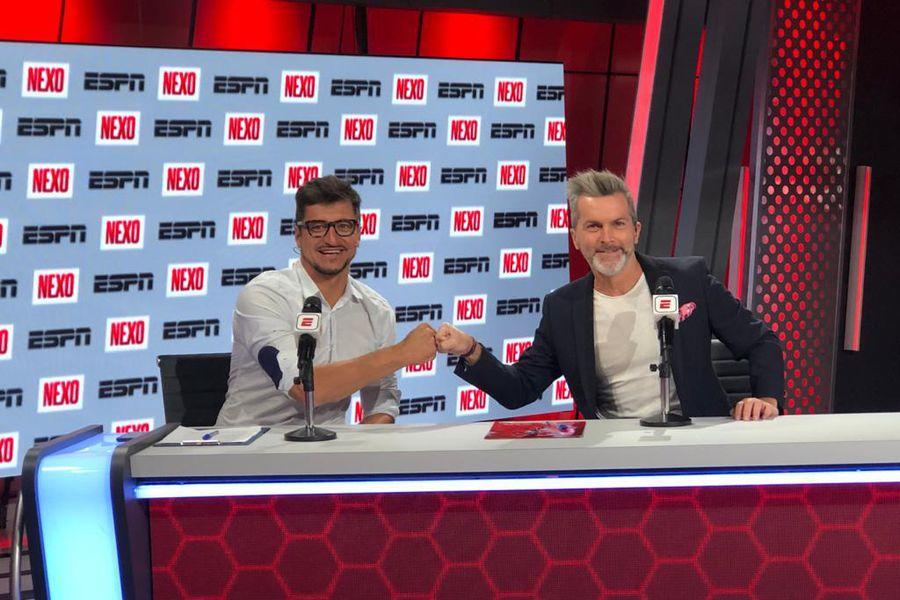 Nicolás Peric, uno de los jugadores que dejaron el fútbol y se unieron a la televisión.
