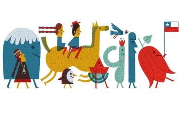 Google celebra las Fiestas Patrias con un doodle chileno