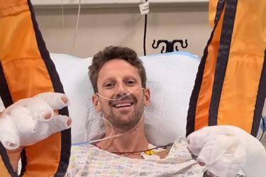 Grosjean envía un tranquilizador mensaje tras su dramático accidente