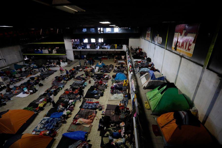 Migrantes en Tijuana