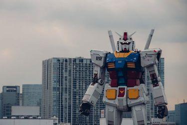 Vean al nuevo gigantesco Gundam de Japón en movimiento