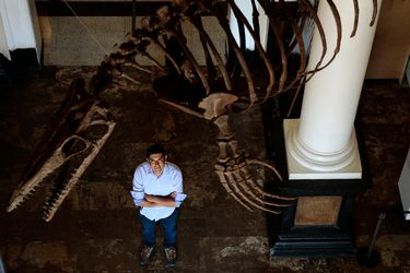 """David Rubilar, jefe de paleontología del Museo de Historia Natural: """"Me decían que en Chile no había dinosaurios"""""""