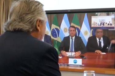 Alberto Fernández y Jair Bolsonaro sostienen su primera reunión tras meses de desencuentros
