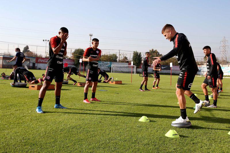 Leonardo Gil entrena con la Roja por primera vez, durante el segundo microciclo de Martín Lasarte como entrenador de la Selección.