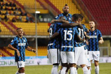 Vidal se retira con molestias en la goleada del Inter sobre Benevento