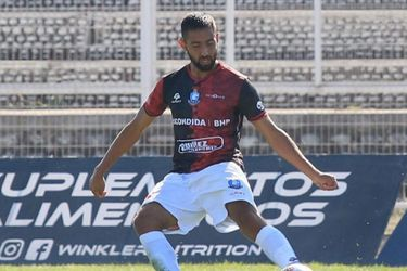 Nicolás Demartini, en su debut en el Campeonato, ante Palestino