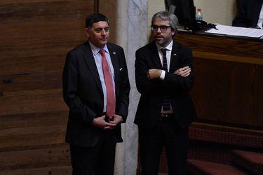 Claudio Alvarado y Gonzalo Blumel