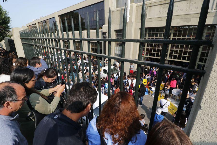 VALPARAISO: Suspenden PSU en Universidad Federico Santa Maria. 06/01/2020