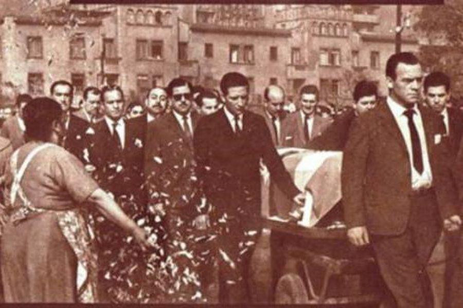 El último adiós a los integrantes de Green Cross que murieron en el accidente aéreo del 3 de abril de 1961.