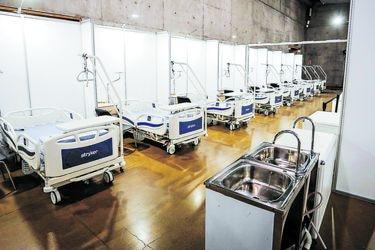 Hospital habilitado en Espacio Riesco se alista para abrir antes de dos semanas
