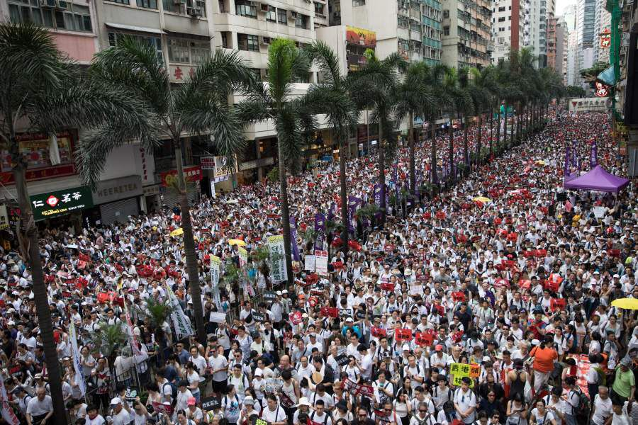 March against proposed extradition bill to China