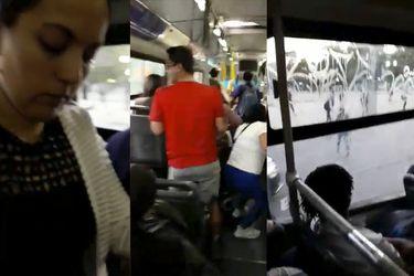 Plaza Italia | El tenso momento vivido por pasajeros en una micro en medio de protestas