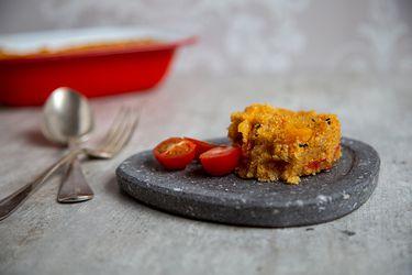 Pastel de quínoa y polenta