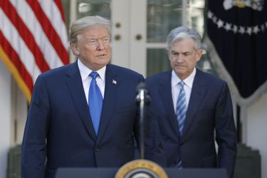 U.S. President Donald Trump announces Powell as nominee to become chairman of the Federal Reserve in the Rose Garden at the White House in Washington