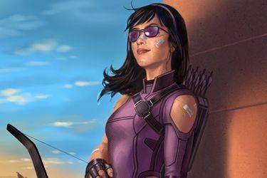 Un arte conceptual muestra el diseño de Kate Bishop para la serie de Hawkeye