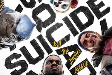 Deadshot, Captain Boomerang, Harley Quinn y King Shark son el foco del póster de Suicide Squad: Kill the Justice League