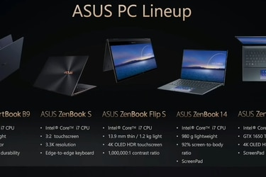 Asus presenta su nueva línea de notebooks que incluyen la última generación de procesadores Intel