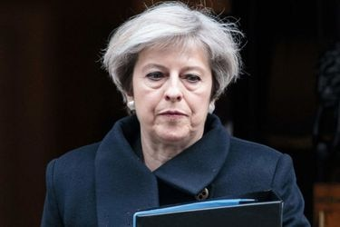British Prime Minister Theresa May leaves 10 Downing Street in centra