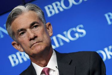 FILE PHOTO: Federal Reserve Governor Jerome Powell attends a conference at the Brookings Institution in Washington