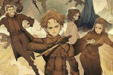 Ilustradora de The Promised Neverland realizó un póster por el estreno de Dune en Japón