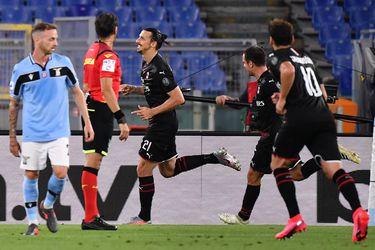 El Milan vence a la Lazio y le da una mano a la Juventus