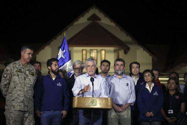 CALAMA:Sebastian Pi–era realiza un punto de prensa al termino del comite operativo de emergencia