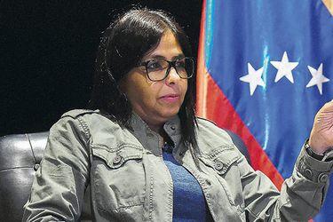 La ex canciller venezolana Delcy Rodríguez, el sábado en Caracas.