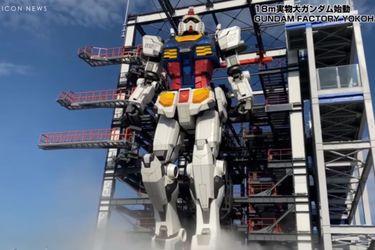 El Gundam tamaño real de Yokohama ya se puede mover por sí mismo