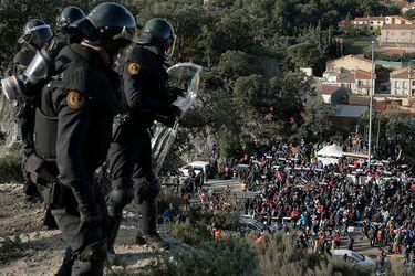 Independentistas catalanes bloquearon frontera entre España y Francia