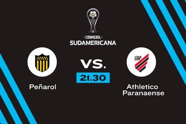 Peñarol vs. Athletico Paranaense, 21.30 horas