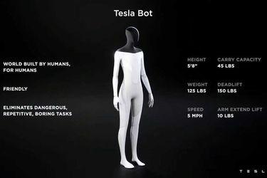 """Elon Musk presenta un robot humanoide para hacerse cargo del trabajo """"aburrido"""""""