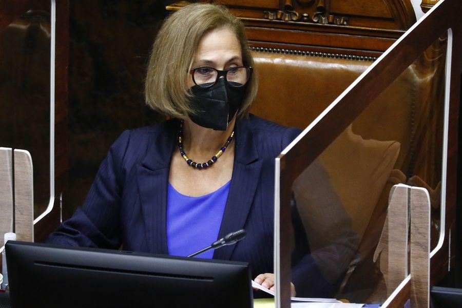 Adriana Muñoz, presidenta del Senado.