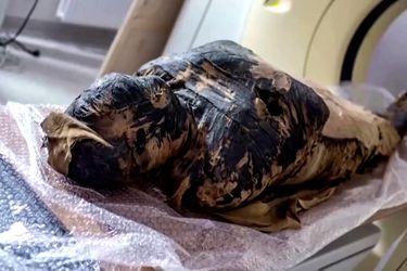 """Científicos realizan """"autopsia virtual"""" a una momia egipcia"""