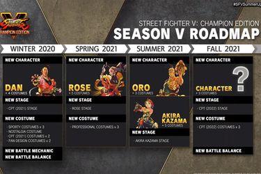 Street Fighter V sumará a  Dan, Rose, Oro y un personaje de Rival Schools