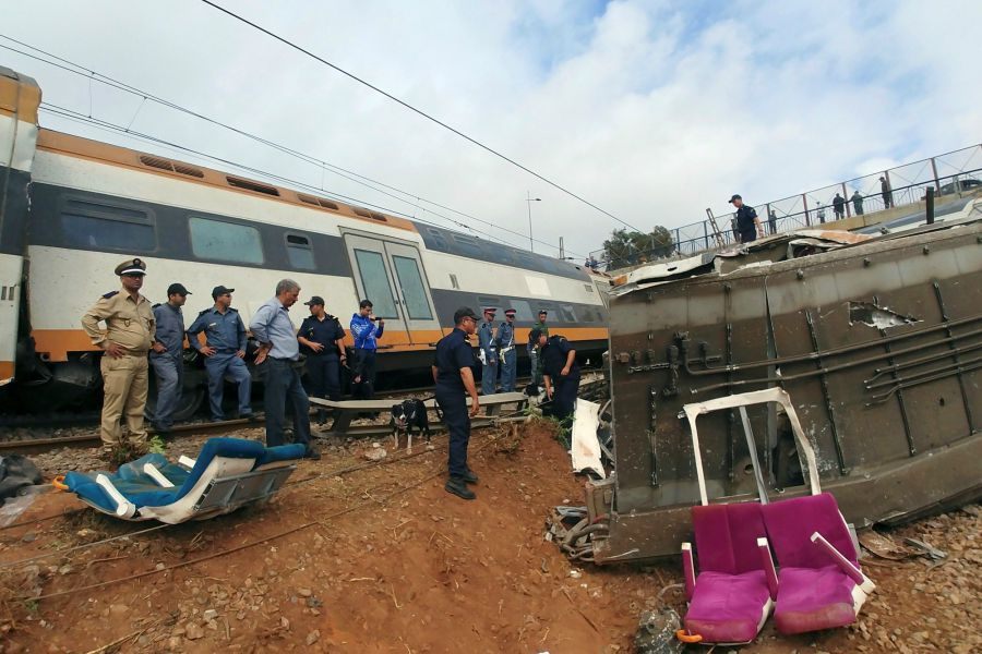 Accidente de tren Marruecos