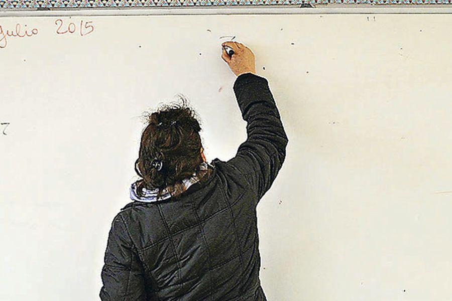 colegio clases, profesora