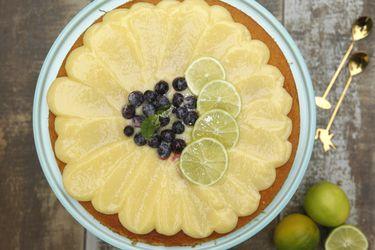 Cómo hacer tarta con lemon curd