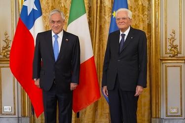 Presidente Piñera llega a Italia para reunirse con el Mandatario Sergio Mattarella y el Primer Ministro, Mario Draghi