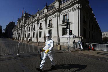 La Moneda, ícono del Gran Santiago, que entrará en cuarentea total a partir de este viernes.