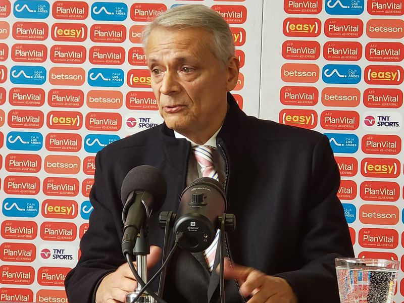 Javier Castrilli, en su presentación como nuevo presidente de la Comisión de Árbitros de la ANFP.