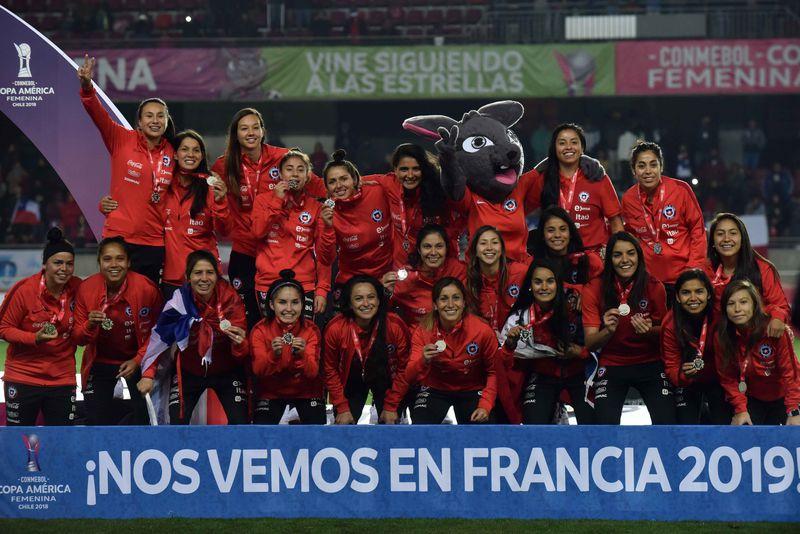Chile celebra el segundo puesto en la Copa América.