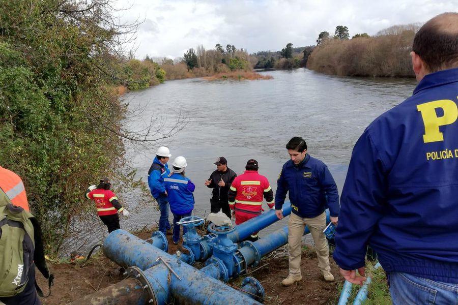 Autoridades fiscalizan la planta afectada en Osorno
