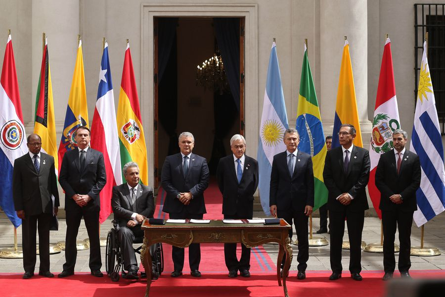 Presidentes de América del sur firman acuerdo del Prosur