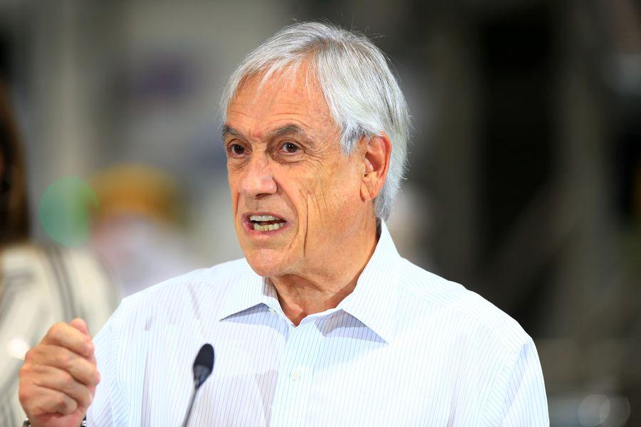 El presidente Sebastián Piñera pidió al congreso que se aprueben las elecciones en dos días.