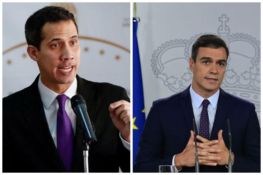 Guaidó y Sánchez