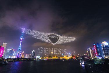 Genesis desembarca en China con impresionante espectáculo de drones